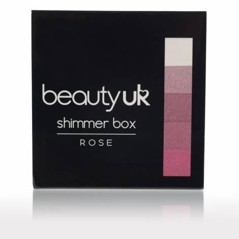 Beauty UK třpytivá tvářenka Shimmer Box Rose 12g